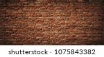 Red Brick Wall Background. Old...
