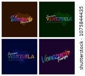 tourism venezuela typography... | Shutterstock .eps vector #1075844435