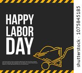 labour day design with... | Shutterstock .eps vector #1075845185