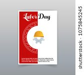 labor day typographic card with ... | Shutterstock .eps vector #1075845245
