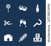 premium set with fill icons.... | Shutterstock .eps vector #1075852496