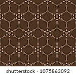 oriental mandala. ottoman... | Shutterstock .eps vector #1075863092