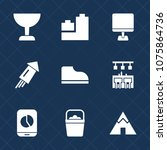 premium set with fill icons.... | Shutterstock .eps vector #1075864736