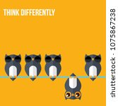 think differently   being... | Shutterstock .eps vector #1075867238