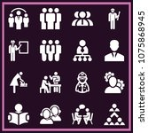 set of 16 people filled icons... | Shutterstock .eps vector #1075868945