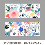 creative universal artistic... | Shutterstock .eps vector #1075869152
