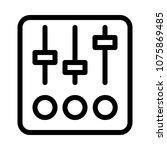 audio mixer device | Shutterstock .eps vector #1075869485