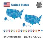 united states   high detailed... | Shutterstock .eps vector #1075872722