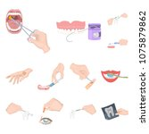 manipulation by hands cartoon... | Shutterstock .eps vector #1075879862