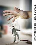 businessman on strings.... | Shutterstock . vector #107588426