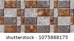 square marble pattern wall... | Shutterstock . vector #1075888175