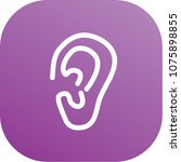 ear icon vector design | Shutterstock .eps vector #1075898855