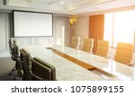 conference meeting room with... | Shutterstock . vector #1075899155