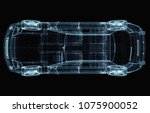 abstract car consisting of... | Shutterstock . vector #1075900052