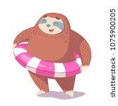 cute hand drawn cartoon vector... | Shutterstock .eps vector #1075900205