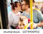 young happy couple is showing... | Shutterstock . vector #1075900952