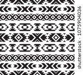 seamless tribal black and white ... | Shutterstock .eps vector #1075904036