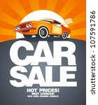 car sale design template with... | Shutterstock .eps vector #107591786