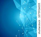 futuristic abstract blockchain... | Shutterstock .eps vector #1075926035
