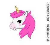unicorn vectorisolated on white.... | Shutterstock .eps vector #1075930088