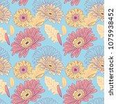 gerbera pattern. flowers pattern | Shutterstock .eps vector #1075938452