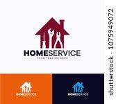 home service logo template... | Shutterstock .eps vector #1075949072