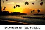 honeymoon  the evening sunset ...   Shutterstock . vector #107595332