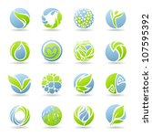 Drops And Leaves. Vector...