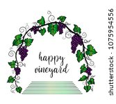 grape arch. vector illustration ... | Shutterstock .eps vector #1075954556