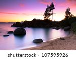 lake tahoe sunset | Shutterstock . vector #107595926