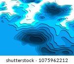 3d model of topographic map. 3d ... | Shutterstock . vector #1075962212