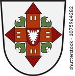 coat of arms of segeberg is a... | Shutterstock .eps vector #1075964282