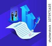 concept business. business... | Shutterstock .eps vector #1075971635