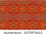 brick wall set of horizontal...   Shutterstock . vector #1075973612