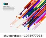 multi colored geometric... | Shutterstock .eps vector #1075977035