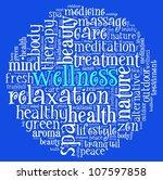 wellness concept  in word... | Shutterstock . vector #107597858