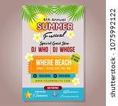 poster summer festival template ...   Shutterstock .eps vector #1075992122