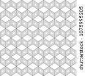 black and white blockchain... | Shutterstock .eps vector #1075995305
