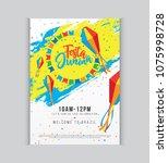 festa junina festival poster... | Shutterstock .eps vector #1075998728