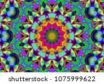 creative abstract background.... | Shutterstock . vector #1075999622