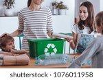 aware mother teaching smiling...   Shutterstock . vector #1076011958