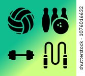 vector icon set about fitness... | Shutterstock .eps vector #1076016632