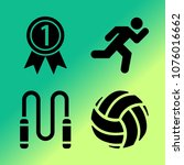 vector icon set about fitness... | Shutterstock .eps vector #1076016662