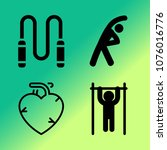 vector icon set about fitness... | Shutterstock .eps vector #1076016776