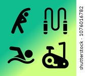 vector icon set about fitness... | Shutterstock .eps vector #1076016782
