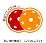 pickleball icon design | Shutterstock .eps vector #1076017985