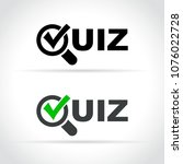 illustration of quiz icon on... | Shutterstock .eps vector #1076022728
