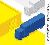 truck isometry illustration ... | Shutterstock .eps vector #1076038772