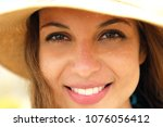 extreme close up of young model ... | Shutterstock . vector #1076056412