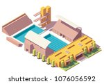 vector isometric low poly...   Shutterstock .eps vector #1076056592